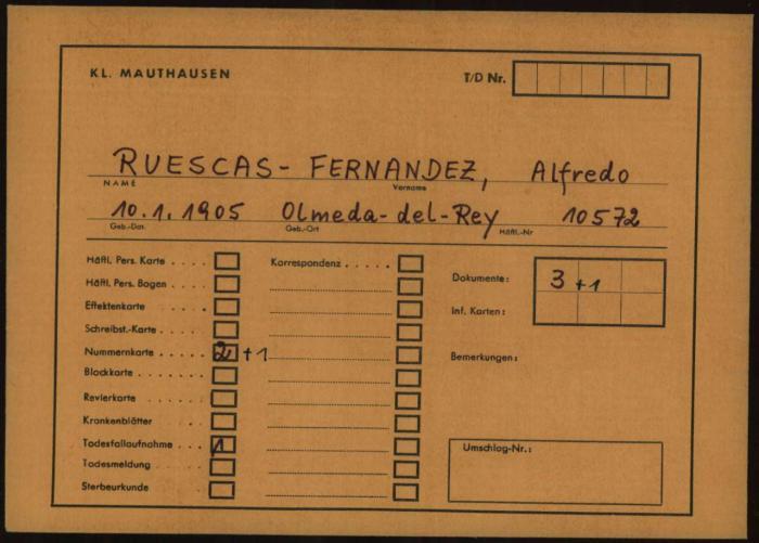 Colocada en Olmeda del Rey una placa en recuerdo a Alfredo Ruescas, conquense deportado al campo de concentración nazi de Mauthausen