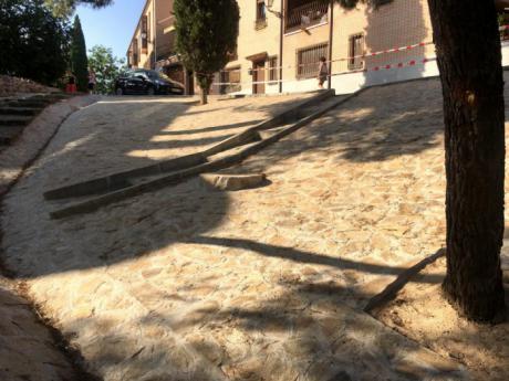 El Ayuntamiento de Toledo finaliza las obras para estabilizar el talud de la bajada de Santa Ana que da acceso de la senda ecológica