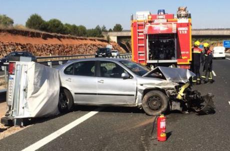 Tres heridos en una colisión múltiple de 11 vehículos en la A-3