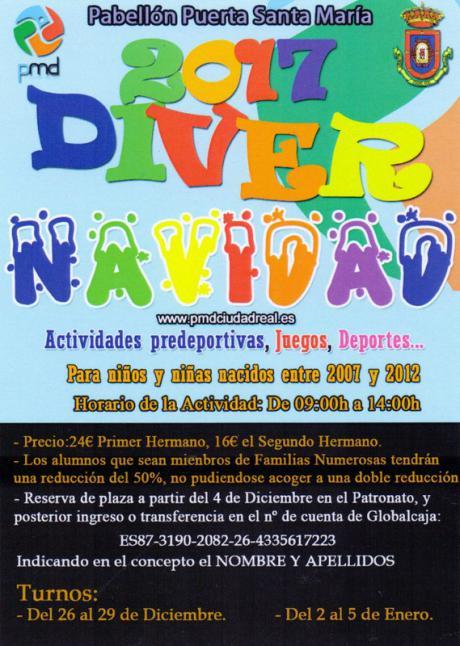 Divernavidad en Ciudad Real del 26 de diciembre al 5 de enero