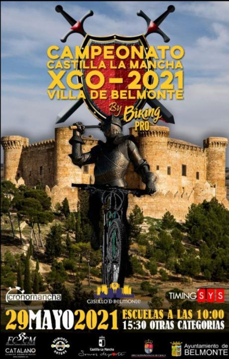 El entorno amurallado del castillo será escenario del Campeonato de Castilla-La Mancha XCO 2021 Villa de Belmonte