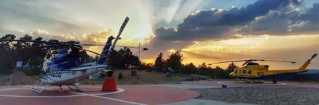 Roban un helicóptero contra incendios de la base de Prado de los Esquiladores y lo localizan en Córdoba