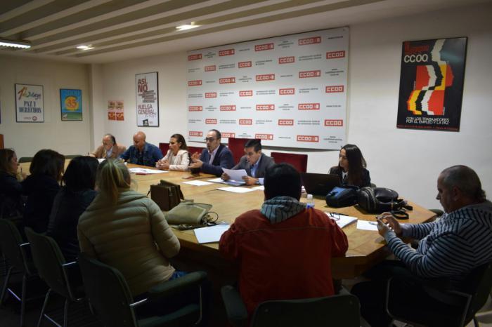 CCOO pide a la Junta, Diputación, Ayuntamiento y a la patronal que la recuperación de la provincia y de las personas sea un objetivo prioritario
