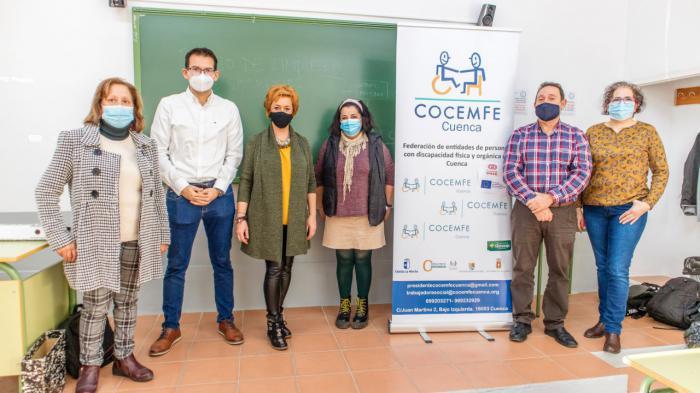 COCEMFE CUENCA inaugura en San Clemente un curso para formar en limpieza a jóvenes con discapacidad en este municipio
