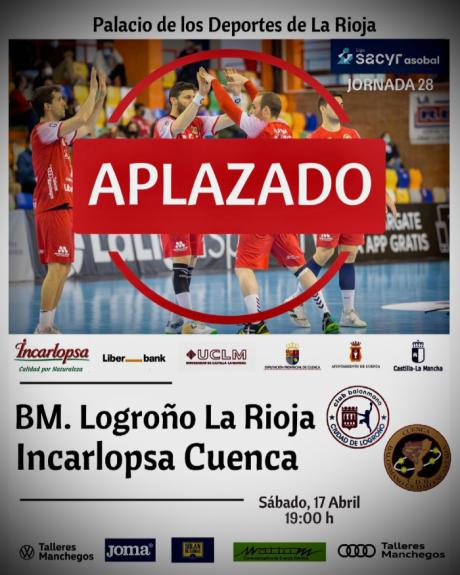 El BM Logroño-Incarlopsa Cuenca se jugará el miércoles 12 de mayo