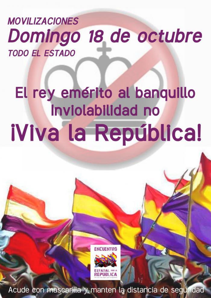 """Convocada una concentraciones en la capital el 18 de octubre para solicitar """"una salida republicana de la crisis"""""""