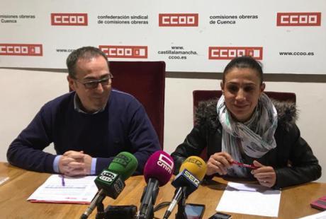 """CCOO pide a administraciones, partidos políticos y empresariado """"compromiso y voluntad"""" para que Cuenca y su ciudadanía tengan un futuro digno"""