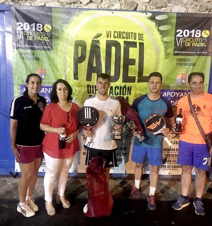Diecisiete parejas disputaron en Horcajo de Santiago la cuarta cita del VI Circuito de Pádel Diputación de Cuenca