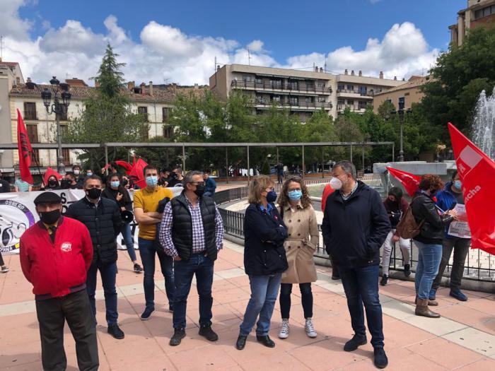 El PSOE de Cuenca apoya un año más a los sindicatos conquenses en sus reivindicaciones laborales con motivo del 1 de mayo