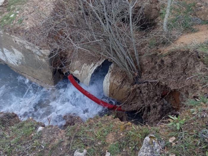 Reparada una importante avería en la canalización para el abastecimiento de agua en la capital