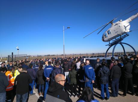 """Masivas concentraciones en Airbus-Illescas y Airbus-Helicopters Albacete para expresar """"el rechazo más contundente"""" a los despidos anunciados por la multinacional"""
