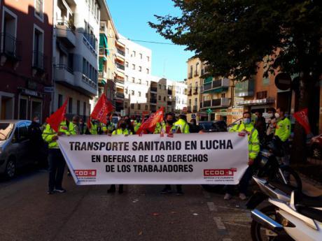 """Nueva concentración frente a la delegación de la Junta del personal de """"Ambulancias Cuenca UTE"""""""