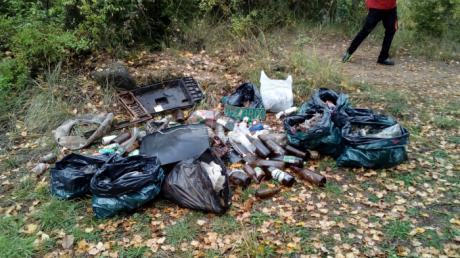 Recogen más de 150 kg de basura en dos zonas naturales del municipio de Villalba de la Sierra
