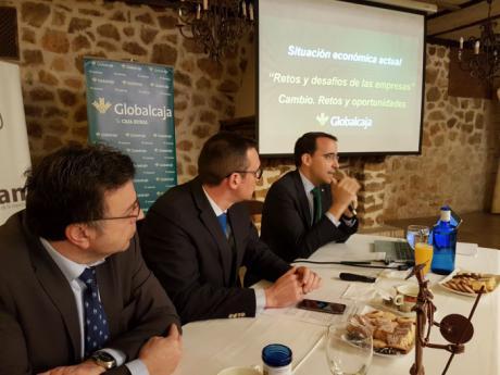 Pedro Palacios, director general de Globalcaja, analiza la situación económica actual y futura del sector empresarial en la región