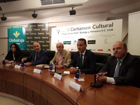 El Director General de Globalcaja, Pedro Palacios, destaca el apoyo al XVIII Certámen CulturalCvirgen de las Viñas desde la primera edicion