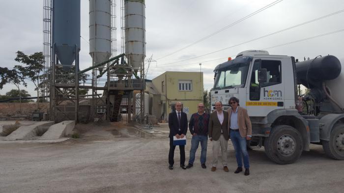 El presidente de CEOE CEPYME Tarancón visita empresas de construcción ubicadas en la comarca