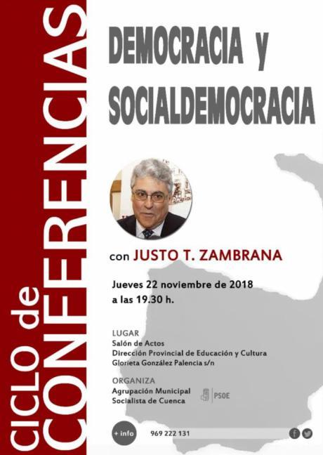 La Agrupación Local del PSOE de Cuenca organiza una conferencia con el político Justo Zambrana