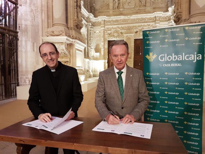 """Firmado el convenio de Globalcaja y el Cabildo de la Catedral para el """"Proyecto ilumina la Catedral"""""""