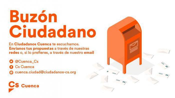 Ciudadanos pone en marcha un 'Buzón Ciudadano' para dar participación a los conquenses en su programa electoral