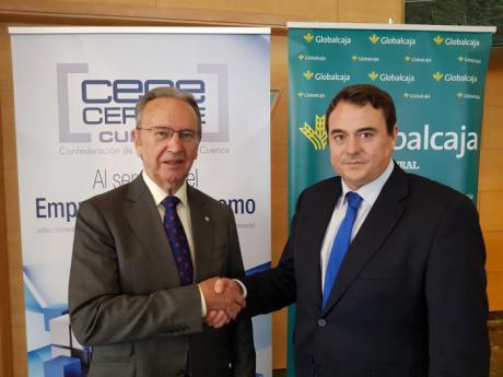 Globalcaja y CEOE CEPYME Cuenca sellan su colaboración para el proyecto 'Invierte en Cuenca'