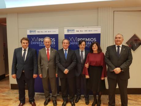 Globalcaja muestra su apoyo al mundo de la empresa de la región en los premios CECAM