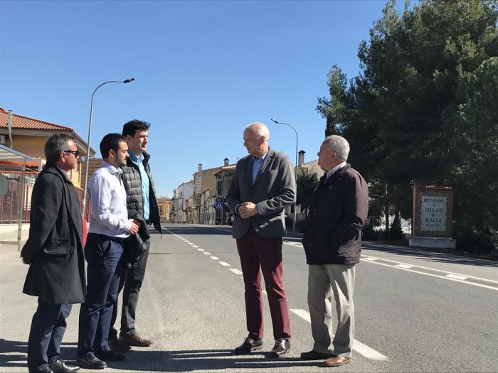 Concluyen las obras de seguridad vial realizadas en la travesía de Villar de Olalla
