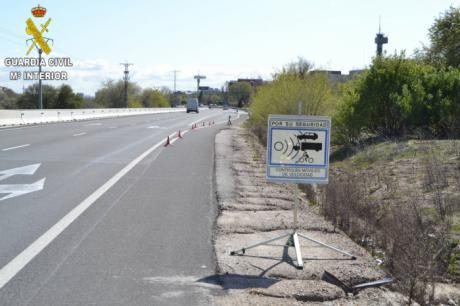La Guardia Civil investiga a una persona por superar la velocidad permitida en 105 km/h en Toledo
