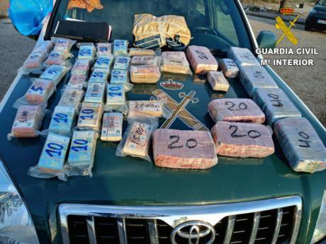 La Guardia Civil ha aprehendido más de 640.000 euros en billetes fraccionados