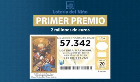 El primer premio del Niño deja un millón de euros en Tarancón