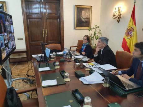 Grande-Marlaska aboga por la coordinación en el marco de la UE en torno a las medidas para contener el COVID-19