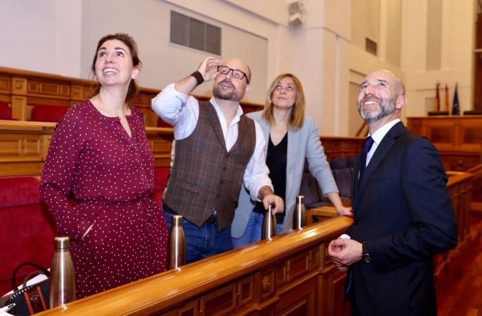 Carmen Picazo, Úrsula López Fuentes, David Muñoz Zapata y Alejandro Ruiz,   diputados de Ciudadanos en las Cortes de Castilla-La Mancha