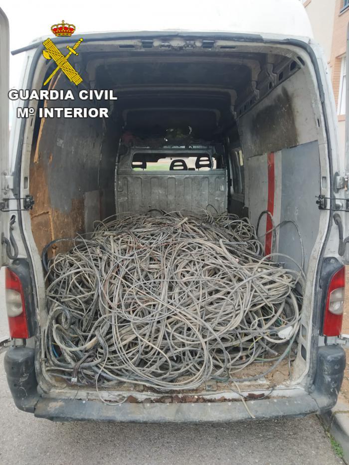 La Guardia Civil ha detenido a 7 hombres cuando estaban robando en una empresa de Pantoja