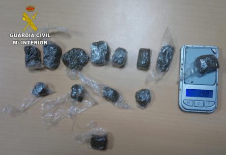 La Guardia Civil detiene una persona en Recas por un delito de tráfico de drogas