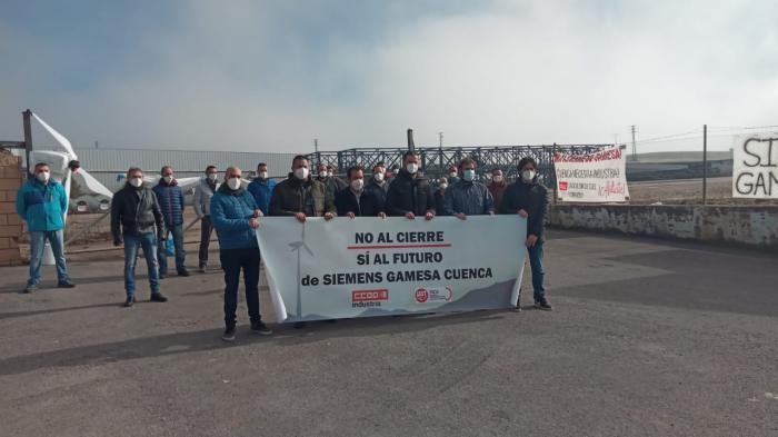 Los trabajadores de Siemens Gamesa agradecen y valoran las mociones de apoyo de la Diputación y del Ayuntamiento