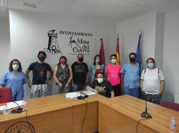 Se constituye el nuevo Comité de Empresa del Ayuntamiento de Mota del Cuervo compuesto por nueve delegados y delegadas de CCOO