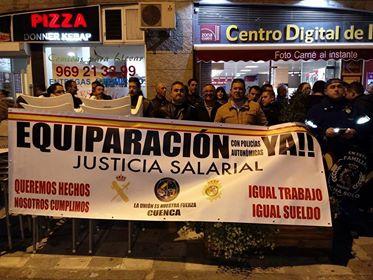La subdelegada del Gobierno en Cuenca afirma que Interior trabaja para la equiparación salarial de los policías