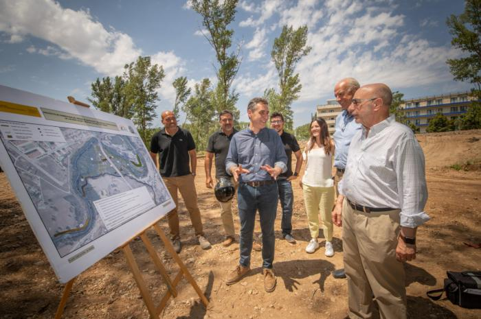Tierraseca comprueba que las obras para reducir riesgo de inundación en Cuenca y mejora del entorno de los ríos Júcar y Moscas avanzan a buen ritmo