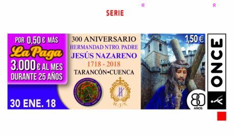 La ONCE presenta el cupón dedicado a la Hermandad de Nuestro Padre Jesús Nazareno de Tarancón