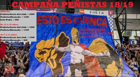 La afamada Peña Furia Conquense inicia una nueva e ilusionante campaña de abonos