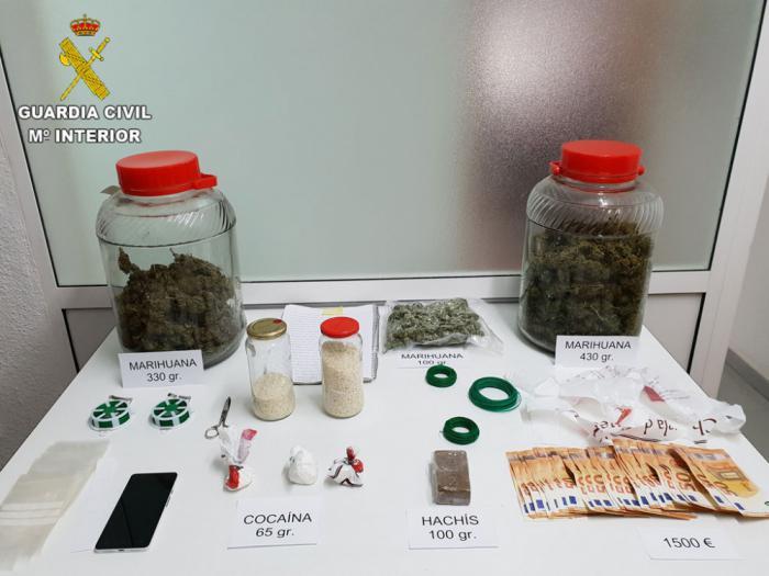 Seis personas detenidas por tráfico de droga en Tarancón