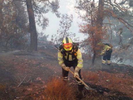El incendio de Yeste está estabilizado y desciende a nivel 1 de emergencia
