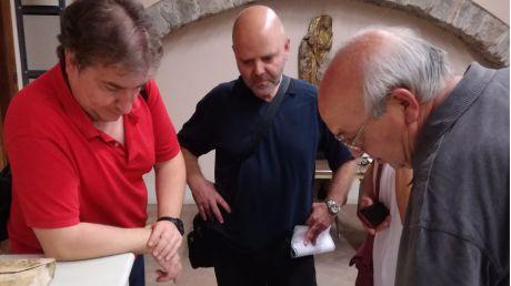 Los participantes del Taller de Empleo 'Digitalización del Patrimonio Documental' visitan los archivos Diocesano y Catedralicio