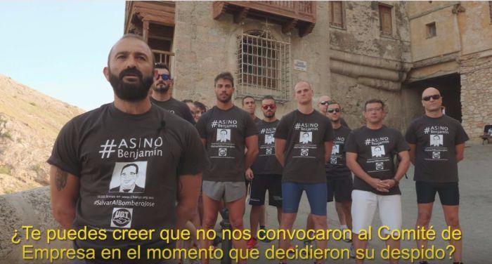 Expedientan a 16 bomberos de la Diputación por protesta contra el despido de un compañero