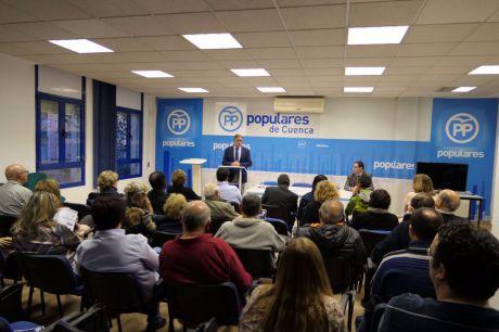 Ángel Mariscal presenta a los afiliados los logros conseguidos en sus dos primeros años al frente del Gobierno en el Ayuntamiento de Cuenca