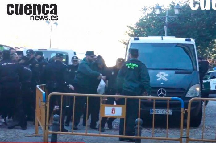 Caso Morate   Entrada de Sergio Morate en la Audiencia Provincial de Cuenca