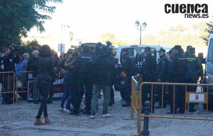 Caso Morate | Tensión a la entrada de Sergio Morate en la Audiencia Provincial