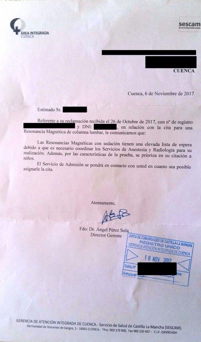 """El PP alerta como hasta el propio gerente del Hospital Virgen de la Luz reconoce que hay """"elevadas"""" listas de espera en Cuenca"""