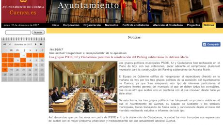 El PP rechaza las acusaciones de los concejales de Izquierda Unida sobre la gestión de la web municipal