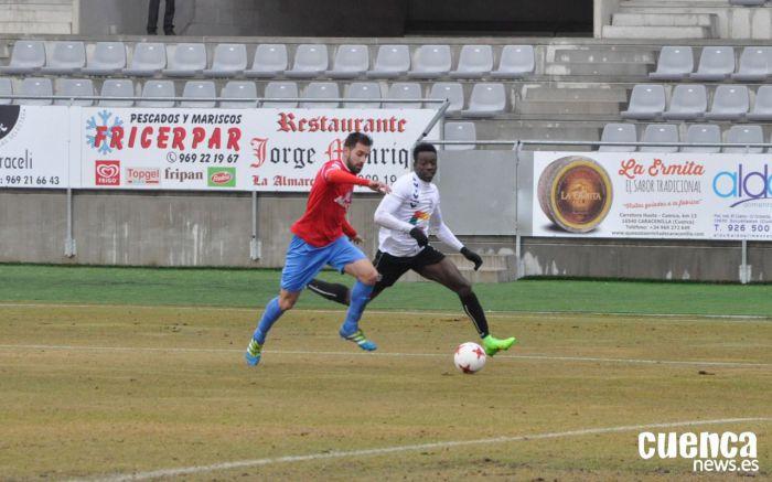 Un determinante Adighibe lidera el triunfo del Conquense contra el Albacete B (0-1)