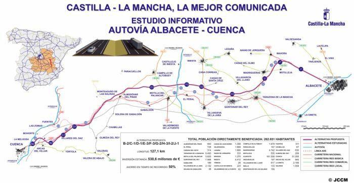 La Junta licitará en el primer trimestre del año los estudios para laautovía Cuenca-Albacete